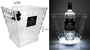 Three Sixty Vodka Flaschenkühler Getränkekühler mit LED Beleuchtung Glorifier