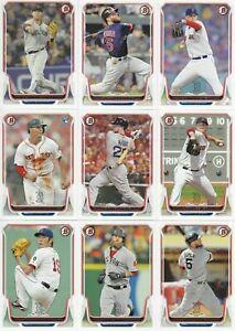 Boston Red Sox 2014 Bowman 11 Card Team Set with Xander Bogaerts Rookie Card 84