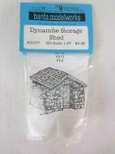More details for banta modelworks ho / oo scale model kit scenery dynamite storage shed sealed