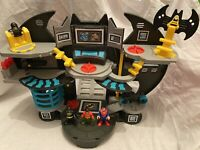 Imaginext Batcave With Batman, Robin And Suoerman Figures With Shooters Etc