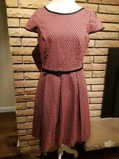 Isabel and Nina Red A-Line Dress Short Sleeve Women US Size 12 Large L Summer