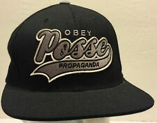 Obey Propaganda Posse Black Snapback Hat Hipster Counterculture Activism Protest