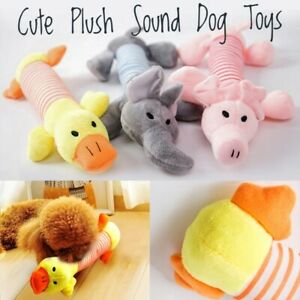 Soft Funny Pet Puppy Dog Chew Play Squeaky Squeaker Cute Plush Sound Dog Toys