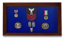 Freedom Display Cases Military Award Shadow Box Display Case - Large Blue felt