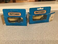 2 Matchbox Model A Fords #MB73 Beige with Brown trim In packaging