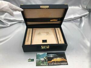 Genuine ROLEX EmptyWatch Box vintage 51.00.01 rare Tag Booklet 1124007 P169