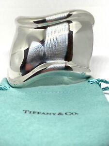 Authentic Tiffany & Co. Elsa Peretti Sterling Silver Bone Cuff Bracelet - Right