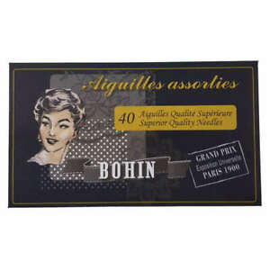 Bohin Needles Assorted 40 Pack 180 Year Tracked Post Anniversary Edition Black