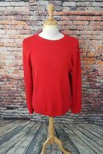Armani Jeans ITALY Men's Rustic Red AJ Logo Crewneck Cotton Pullover Sweater XL
