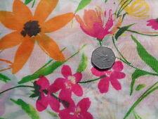 Italian Cotton & Silk Voile 100%, 'Orange Delight', (per metre) dress fabric