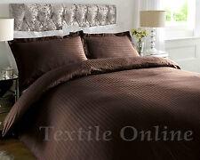 T-300 Hotel Quality Satin Stripe 100% Egyptian Cotton Luxury Duvet Cover Bed Set