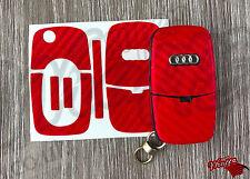 Envoltura De Clave De Fibra De Carbono Rojo Funda superposición de Control Remoto Audi A1 A2 A3 A4 A5 A6 A8 TT