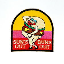 SUN'S OUT BUNS OUT SWIMSUIT Funny Fat Booty Backpack Jacket Shirt Iron on patch