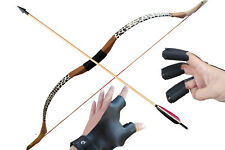 50inch handmade archery 25lb traditional long bow recurve bow and arrows set