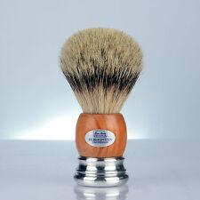 HANS BAIER Rasierpinsel OLIVENHOLZ SILBERSPITZ shaving brush silvertip 25.5 mm