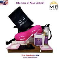 Eyelash Extensions Aftercare Kit Take Care + Free Protective Lash Bra USA Seller