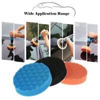 FP- KE_ 3Pcs 5 Inch 125mm Car Polishing Sponge Pads Waxing Buffing Foam Set New