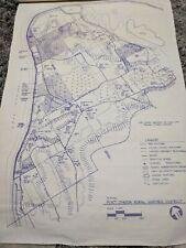 """2' x 3' """"PROPOSED"""" PORT ONEIDA RURAL HISTORIC DISTRICT MAP; MI DEPT. OF STATE"""