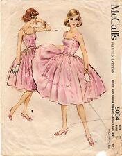 Vintage 1959 McCall's Sewing Pattern No.5004 Misses' Bodice and Skirt Size 14
