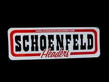 Genuine SCHOENFELD Headers Sticker Motorsport,Track, Rally, NASCAR, Drag, Hotrod