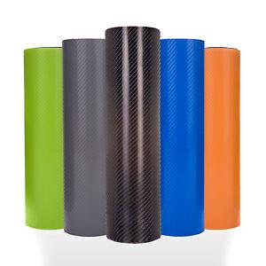 4D Black Carbon Fibre Vinyl Wrap - ALL COLOURS - Interior/Exterior Bubble Free