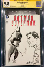 TIM SALE & Dave Johnson ORIGINAL Sketch CGC 9.8 Signed Batman Superman not CBCS