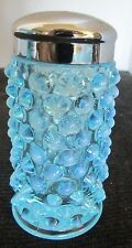 "FENTON ART GLASS BLUE HOBNAIL OPALESCENT 2 7/8""T X 1 3/8""D SHAKER (4 AVAILABLE)"
