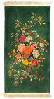Antique - Chinese Art Deco - Green Floral - Vintage Wool Rug - 2' x 4' - Nichols