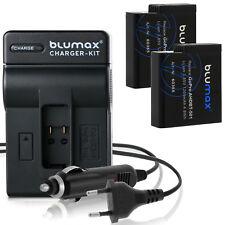 2x Batteria per GoPro Hero 5/Hero 6 + CARICABATTERIA CHARGER PER HERO 5/6 | 60385 | 90360