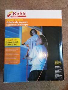 Kidde Escape Ladder 3 Storey, 25 feet, Pre-Assembled for Flats, Houses & Offices
