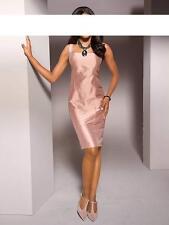 S.Madan Designer-Seidenkleid, rosé Gr 34 bis 46 UVP 139,90�'�