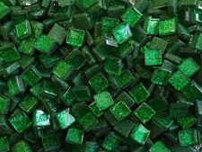 50g Emerald Glitter Glass Mosaic Tile 10mm x 10mm x 4mm. Indoor use, Easy to cut