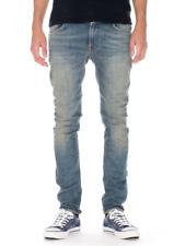 Nudie Herren Slim Fit Stretch Jeans Hose Used Look | Thin Finn Navy Blaze