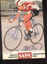 SERGIO GEROSA Signée SAPA 79 cyclisme Autographe cycling ciclismo radsport GIRO