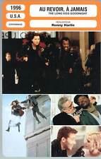 AU REVOIR A JAMAIS - Davis,S.L.Jackson(Fiche Cinéma)1996 The Long Kiss Goodnight