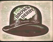 "The Brown Derby 1943 souvenir photo in folder 5x7"""