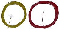 2 ROLLOS DE 5 METROS DE CABLE FLEXIBLE MUY FINO SECCIÓN 0,04 mm², COLOR A ELEGIR