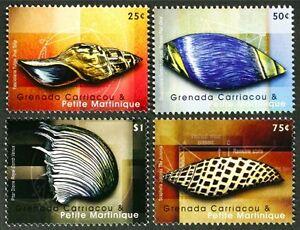 B143 GRENADA 2008 beautiful set of 4 Shells MNH