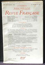 La Nouvelle revue française septembre 1954 TBE