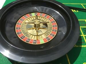 ROULETTE SET  WITH CHIPS, FELT + RAKE + 10 inch WHEEL - DAMAGED BOX CLEARENCE