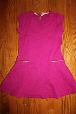 NWT Gymboree Charm Class Size 7 Pink Quilted Zipper Dress