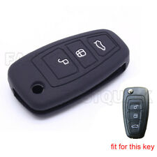 3 Button Silicone Key Fob Case Cover Skin Protector fit for Ford Flip Series