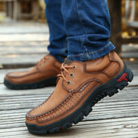 Men's shoes Leather Casual Shoes Waterproof Shoes Cow Leather Loafers Plus Size