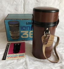 1978 New Unused RUSSIAN JUPITER 36B BROWN LEATHER LENS CASE Strap Box Manual Tag