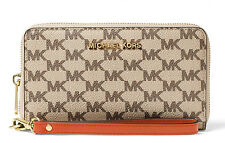 NWT NEW Authentic Michael Kors Jet Set Travel Large Phone Case Wristlet Wallet