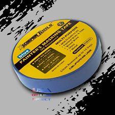 "2 Rolls Multi-Surfaces Blue Painter Masking Tape 1"" 180ft. 60 yards Edge Trim US"