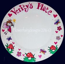 Personalised And Hand Painted Fairy Themed Dinner Plate