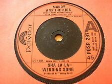 "MANDY and THE KIDS - SHA LA LA WEDDING SONG   7"" VINYL"