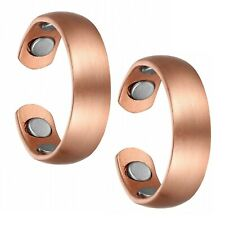 Set of Two - Brushed Copper Magnetic Arthritis Carpal Tunnel Pain Relief