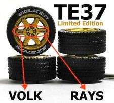 1/64 tyres TE37 Striking Gold Limited Edition fit Hot Wheels diecast - 4 sets